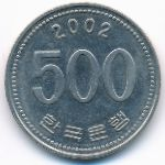 Южная Корея, 500 вон (2002 г.)