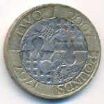 Великобритания, 2 фунта (2007 г.)