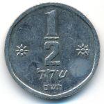 Израиль, 1/2 шекеля (1980–1981 г.)
