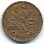 Канада, 1 цент (1951–1952 г.)