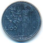 Италия, 100 лир (1990 г.)