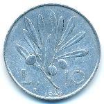 Италия, 10 лир (1949–1950 г.)