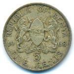 Кения, 5 центов (1968 г.)