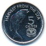Фиджи, 5 центов (1995 г.)
