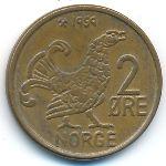 Норвегия, 2 эре (1959–1972 г.)