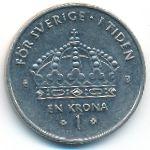 Швеция, 1 крона (2001–2008 г.)