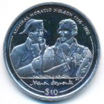 Виргинские острова, 10 долларов (2005 г.)