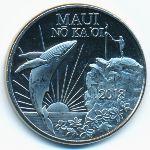 Гавайские острова, 1 доллар (2018 г.)