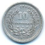 Уругвай, 10 сентесимо (1877 г.)