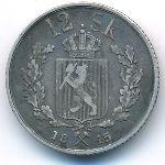 Норвегия, 12 скиллингов (1845 г.)