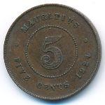 Маврикий, 5 центов (1924 г.)
