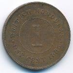 Британский Гондурас, 1 цент (1885 г.)