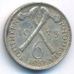 Южная Родезия, 6 пенсов (1935 г.)