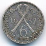 Южная Родезия, 6 пенсов (1937 г.)