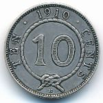Саравак, 10 центов (1910 г.)