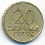 Литва, 20 центов (1999 г.)