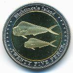 Соловьиные острова, 25 пенсов (2011 г.)