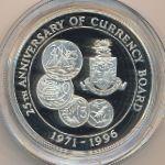 Каймановы острова, 2 доллара (1996 г.)