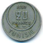 Тунис, 20 франков (1950 г.)