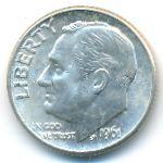 США, 1 дайм (1961 г.)