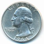 США, 1/4 доллара (1964 г.)