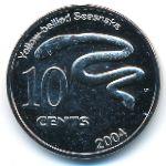 Кокосовые острова, 10 центов (2004 г.)