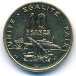 Джибути, 10 франков (1983–2016 г.)