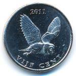 Остров Саба, 5 центов (2011 г.)
