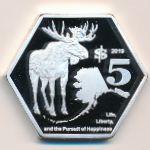 Аляска, 5 долларов (2019 г.)