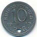 Рудольштадт., 10 пфеннигов (1918 г.)