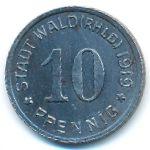Вальд., 10 пфеннигов (1919 г.)