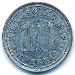 Ваттеншайд., 10 пфеннигов (1917 г.)