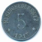 Уффенхайм., 5 пфеннигов (1917 г.)