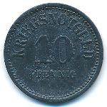 Узинген., 10 пфеннигов (1917 г.)