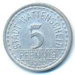 Ваттеншайд., 5 пфеннигов (1920 г.)