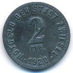 Цвизель., 2 пфеннига (1920 г.)