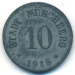 Мюнхберг., 10 пфеннигов (1918 г.)