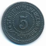 Мюльхаузен., 5 пфеннигов (1917 г.)
