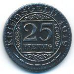 Оберхаузен., 25 пфеннигов (1919 г.)
