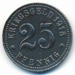 Рейн., 25 пфеннигов (1918 г.)