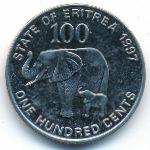 Эритрея, 100 центов (1997 г.)