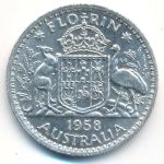 Австралия, 1 флорин (1958 г.)