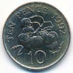 Гернси, 10 пенсов (1992 г.)