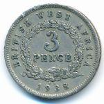 Британская Западная Африка, 3 пенса (1938 г.)