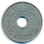 British West Africa, 1/2 penny, 1912–1936