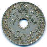 Британская Западная Африка, 1 пенни (1937 г.)