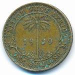 Британская Западная Африка, 1 шиллинг (1939 г.)