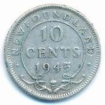 Ньюфаундленд, 10 центов (1945 г.)