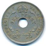 Британская Западная Африка, 1 пенни (1919 г.)
