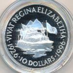 Восточные Карибы, 10 долларов (1996 г.)